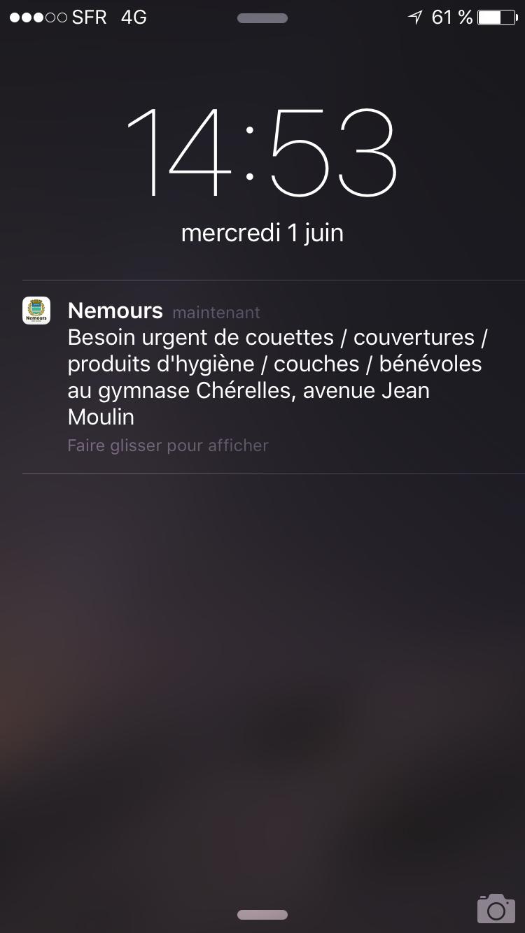 Inondations record à Nemours : la mairie fait appel à la solidarité et informe ses citoyens grâce à son application mobile